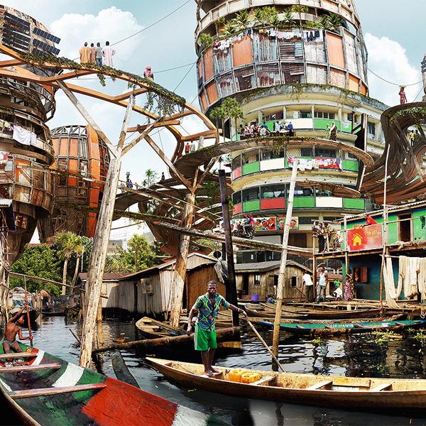 Shanty-Megastructures by Olalekan Jeyifous